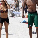 Ciara and Amare Stoudemire on the Beach 6