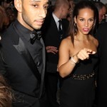Alicia Keys and her husband Swizz Beatz arriving for the Black Ball held at the Roundhouse - London