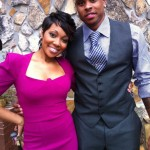 Monica and husband Shannon Brown readies for Toya Carter's wedding