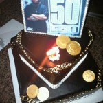 50 Cent Twitpic'd his birthday cake from his pre-birthday celebration.