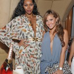 Kelly Rowland Album Release Celebration Party at Moet Rose Lounge - Jessica White and Adrienne Ballon