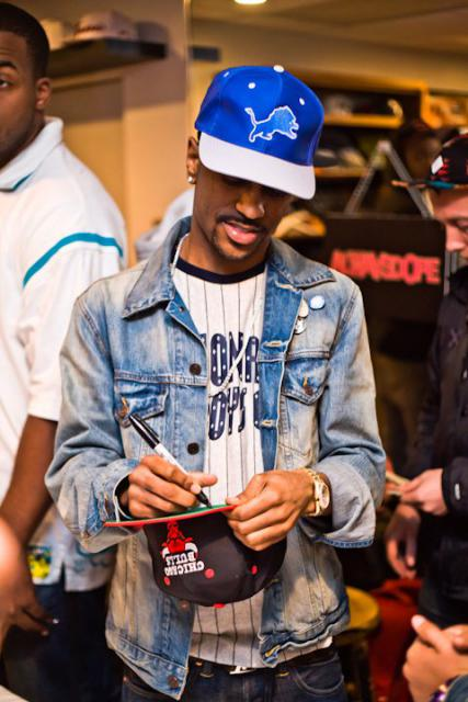 big sean with snapbacks