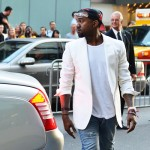 kanye west with snapback