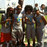 Mindless Behavior gets ready to play ball with New Orleans Hornet player, Chris Paul.