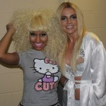 Britney Spears & Nicki Minaj Backstage at Femme Fatale Tour