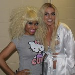 Britney Spears & Nicki Minaj Backstage at Femme Fatale Tour 2