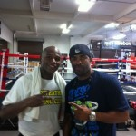DJ Clue caught up with Floyd Mayweather in the ring.
