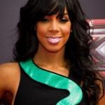 Kelly Rowland Arriving at X-Factor Photo Call