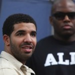 Canadian recording artist Drake watches