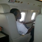 Pusha-T was photo'd in a Jet to his destination.