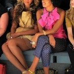 Vera Wang- Beyonce & Solange at Spring 2012 Mercedes-Benz Fashion Show 2