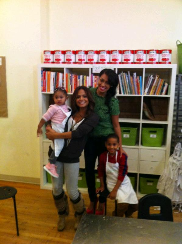 Christina Milian Hits Cooking Class with Lala & Kids