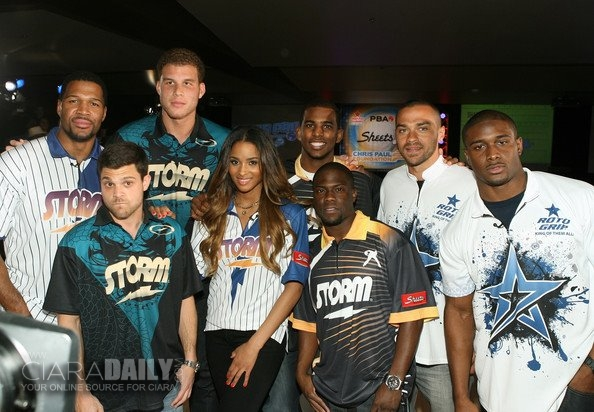 Ciara Bowls at Chris Paul's PBA Celebrity Invitation Kevin Hart Reggie Bush