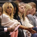 Rihanna Attends L.A. Clippers Game Bleached Blonde 2