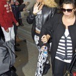Rihanna Rocks Red Baseball Cap with Wavy Hair 4