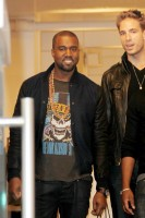 Kanye West in NYC with Kim Kardashian at ArtGate Gallery
