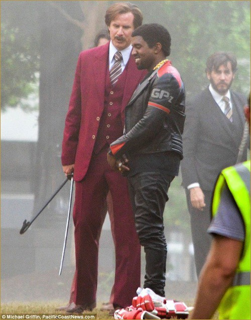 Quick Pics- Kanye West onset of Anchorman 2 – 2