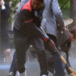 Quick Pics- Kanye West onset of Anchorman 2 - 4