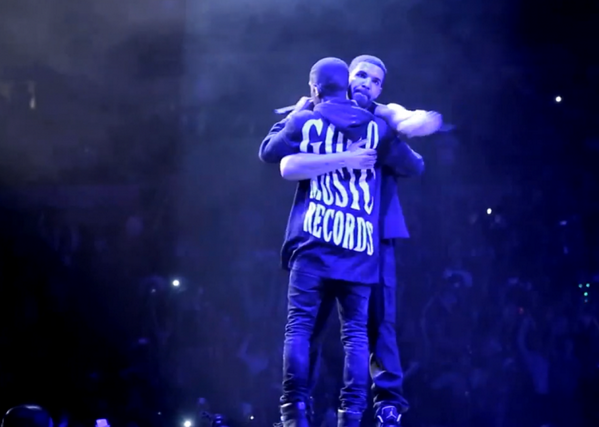 Drake & Big Sean, photos courtesy of mlive.com and twitter