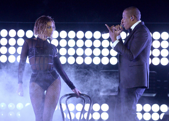 Beyonce & Jay-Z, photos by  Kevork Djansezian (Getty Images)
