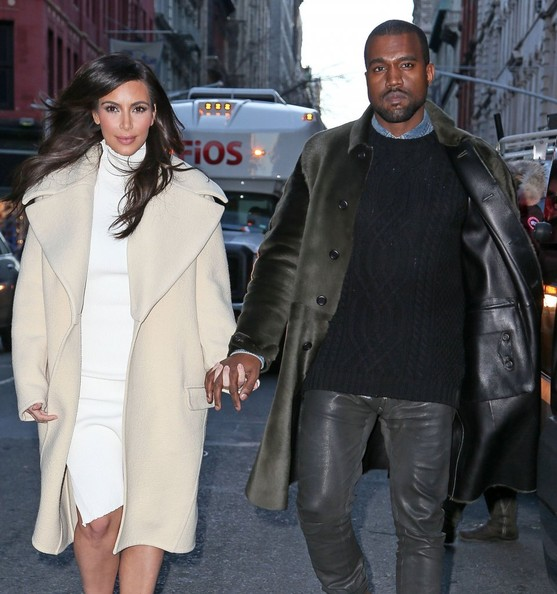 Kim Kardashian & Kanye West, photos by FameFlynet Pictures