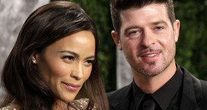 Paula Patton & Robin Thicke , photo courtest of Brian To/WENN.com