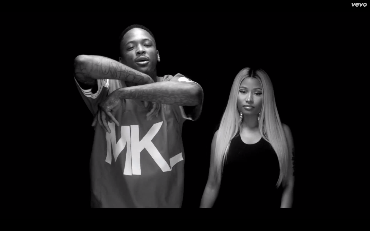 "YG & Nicki Minaj in ""My N**ga (Remix)"""