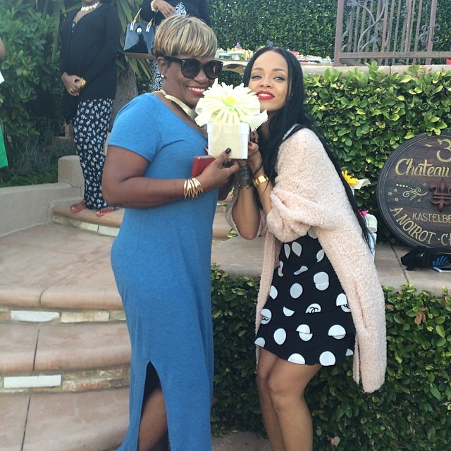 Rihanna Spends Time with Family on Mothers Day